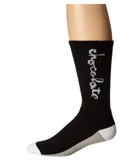 Huf X Choc Crew Socks Black Crew Cut Socks Shoes