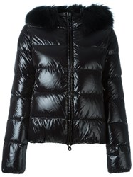 Duvetica Fur Trimmed Down Jacket Black