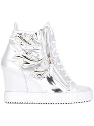Giuseppe Zanotti Design 'Cruel' Wedge Sneakers Metallic