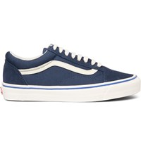 Vans Old Skool Canvas And Suede Sneakers Blue