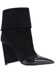 Alain Tondowsky Pointed Toe Ankle Boots Blue