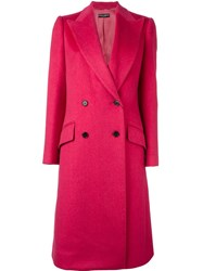 Dolce And Gabbana Double Breasted Coat Pink And Purple