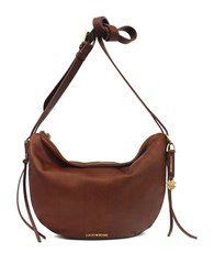 Lucky Brand Nyla Leather Crescent Hobo Bag Brandy