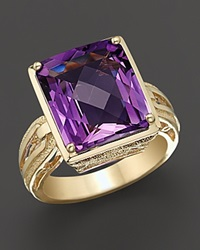 Bloomingdale's Amethyst And 14 Kt. Yellow Gold Ring No Color