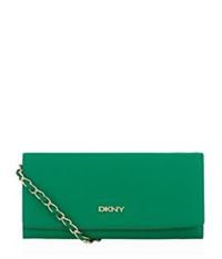 Dkny Bryant Park Saffiano Chain Clutch Green