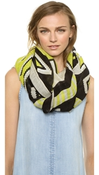 Theodora And Callum Monument Valley Scarf Lime Multi