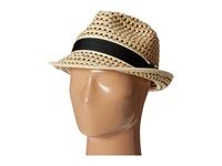 Tommy Bahama Deluxe Paper Braid Fedora Natural Traditional Hats Beige
