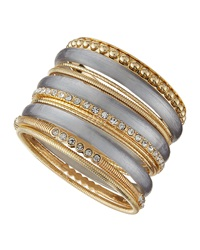 Rj Graziano R.J. Graziano Mixed Metal Multi Bangle Set Cloud