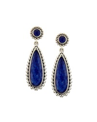 Lagos Sterling Silver And Lapis Double Drop Earrings