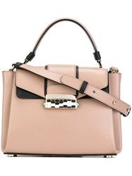 Bulgari Removable Strap Small Tote Nude And Neutrals