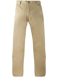 E. Tautz Straight Fit Trousers Nude And Neutrals
