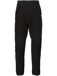 R 13 R13 Gathered Ankle Trousers Black