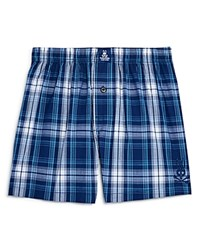 Psycho Bunny Woven Boxers Navy White Plaid