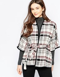 Wal G Jacket In Check Cream Multi