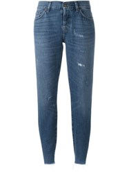 7 For All Mankind 'Josie' Cropped Jeans Blue