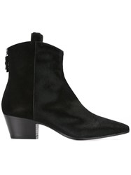 Twin Set Pointed Cowboy Boots Black