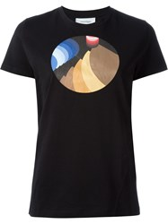 Courra Ges Circle Print T Shirt Black