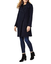 Phase Eight Rosaleen Raschel Textured Coat Navy
