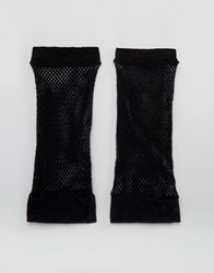 Asos Halloween Fishnet Gloves Black