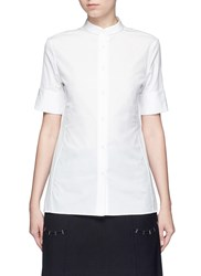 Acne Studios 'Sybil' Cotton Poplin Short Sleeve Shirt White