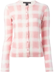 Marc By Marc Jacobs Blurred Check Cardigan Pink And Purple