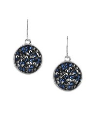 Kenneth Cole Beaded Disc Drop Earrings Black