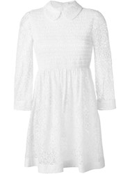 Red Valentino Lace Collar Dress White