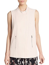 1.State Sleeveless Zip Front Vest Rose Smoke