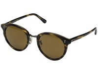 Oliver Peoples Spelman Cocobolo Antique Gold Cosmik Tone Fashion Sunglasses Brown