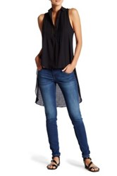 Candc California Niva Drapey Pintucked Tank Gray