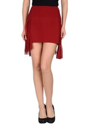 Roberta Furlanetto Mini Skirts Brick Red