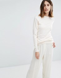 Warehouse Crew Jumper Ivory White