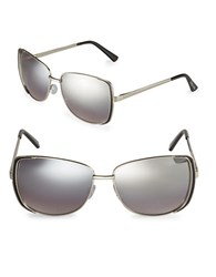 Sam Edelman 60Mm Rectangle Sunglasses Silver