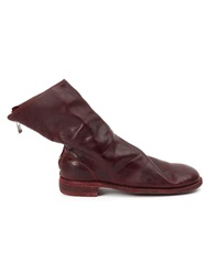 Guidi Distressed Boots Red