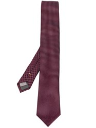 Canali Embroidered Tie Pink And Purple