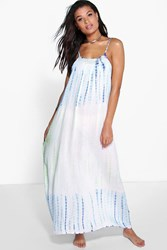 Boohoo Tie Dye Embellished Maxi Beach Dress Multi