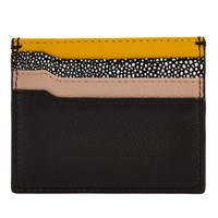 John Lewis Helen Leather Card Holder Yellow Multi