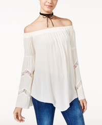 American Rag Off The Shoulder Lace Trim Peasant Top Only At Macy's Off White