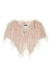 Topshop Feather Cape Nude