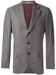 Brunello Cucinelli Flap Pocket Blazer Brown