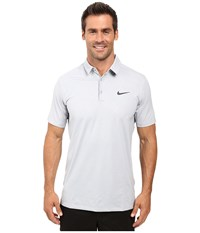 Nike Mobility Emboss Polo Wolf Grey Anthracite Men's Short Sleeve Pullover Gray