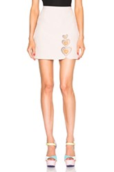Christopher Kane Heart Mini Skirt In Neutrals