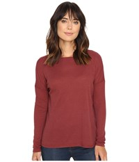 Volcom Lived In Go Pullover Crew Crimson Women's Long Sleeve Pullover Red