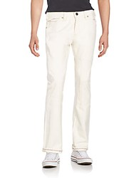 Cult Of Individuality Rebel Straight Leg Jeans Cream