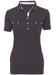 Green Lamb Catherine Shirt With Faux Pockets Navy