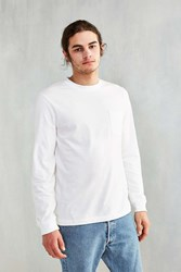 Urban Outfitters Long Sleeve Pocket Tee White