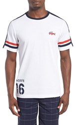 Men's Lacoste 'Sprinter Victory' Print T Shirt White Navy Cochineal