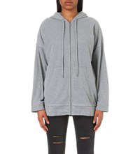 The Kooples Zipped Knitted Hoody Light Grey