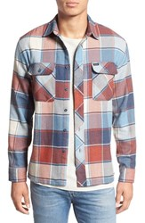 Brixton Men's 'Archie' Plaid Flannel Shirt Light Blue Plaid