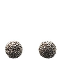Lord And Taylor Sterling Silver Marcasite Fireball Button Earrings